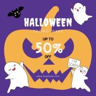 Halloween promo week flyer template Message Instagram