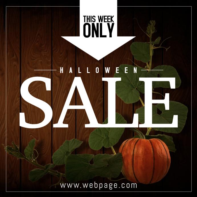 Halloween promotion discount sale instagram post template