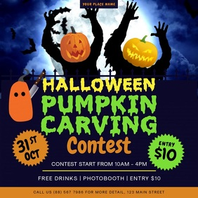 Halloween Pumpkin Carving Contest Square Vide