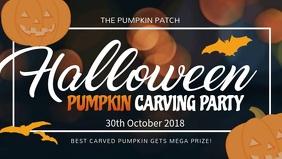 Halloween Pumpkin Carving Facebook Cover Video