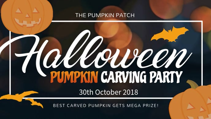Halloween Pumpkin Carving Facebook Cover Video