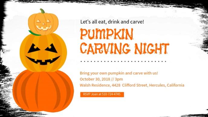 Sjabloon Pompoen Halloween.Sjabloon Halloween Pompoen Snijwerk Nacht Facebook Cover