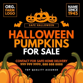 Halloween Pumpkin For Sale Post Template สี่เหลี่ยมจัตุรัส (1:1)