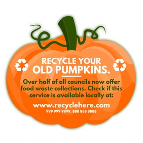 Halloween Pumpkin Recycle Post Template Square (1:1)