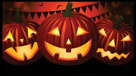 Halloween pumpkin zoom digital backgrOund template