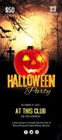 Halloween Rack Card template