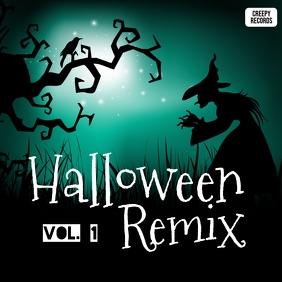 Halloween remix album cover art template