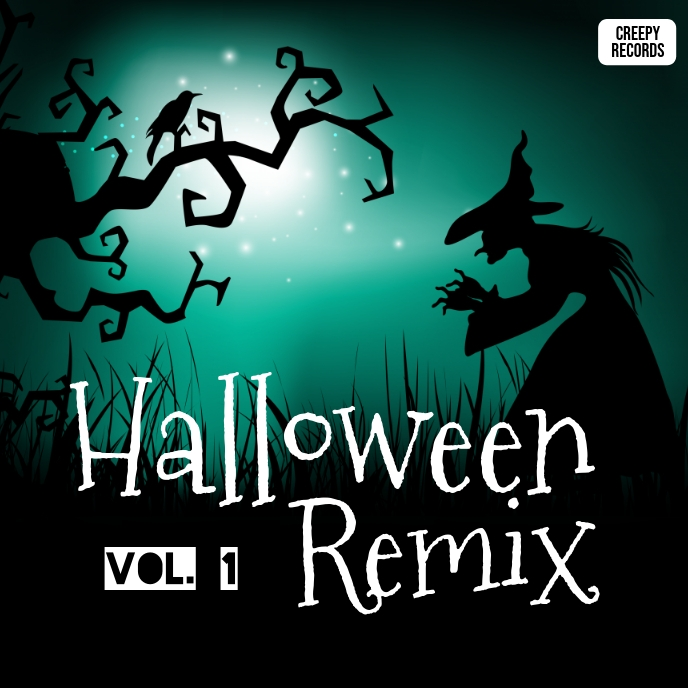 Halloween remix album cover art ปกอัลบั้ม template