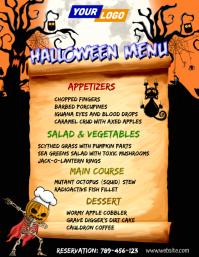 Halloween Restaurant Menu Template Flyer (US-Letter)