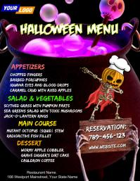 Halloween Restaurant Menu Template Folder (US Letter)