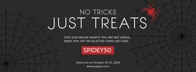 Halloween Retail Advertisement Facebook Banner