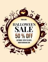 halloween sale video template, fall sale Flyer (US Letter)