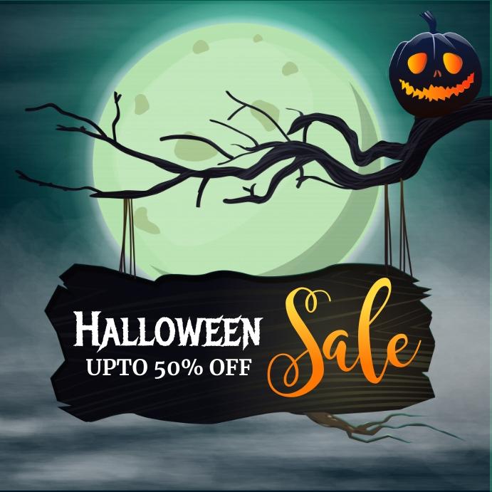 halloween sale, halloween, happy halloween Publicación de Instagram template