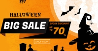 Halloween Sale Ad auf Facebook geteiltes Bild template