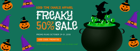 Halloween Sale Ad for Kid's Apparel Facebook Cover template