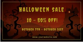 Halloween Sale Ad/Promotion Annuncio Facebook template