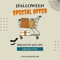 Halloween sale ad v4 Publicação no Instagram template