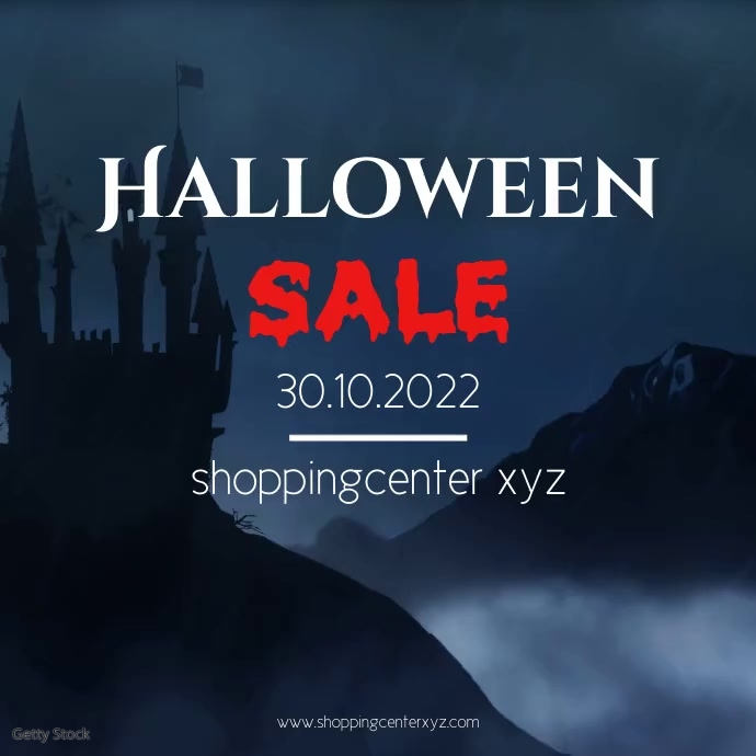 Halloween Sale Advert Video Special Offer Ad