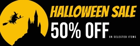 halloween sale banner Cartel de 2 × 6 pulg. template