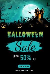 Halloween Sale Banner Cartel de 4 × 6 pulg. template
