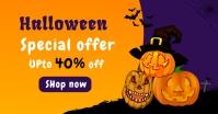 Halloween Sale Banner Template Immagine condivisa di Facebook