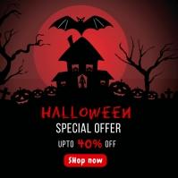 Halloween Sale Banner Template Instagram-opslag