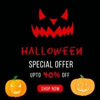 Halloween Sale Banner Template Wpis na Instagrama