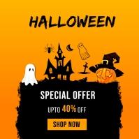 Halloween Sale Banner Template Instagram Post