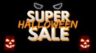 Halloween sale Digitale Vertoning (16:9) template