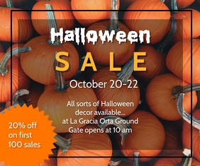 Halloween SALE Rectangle moyen template