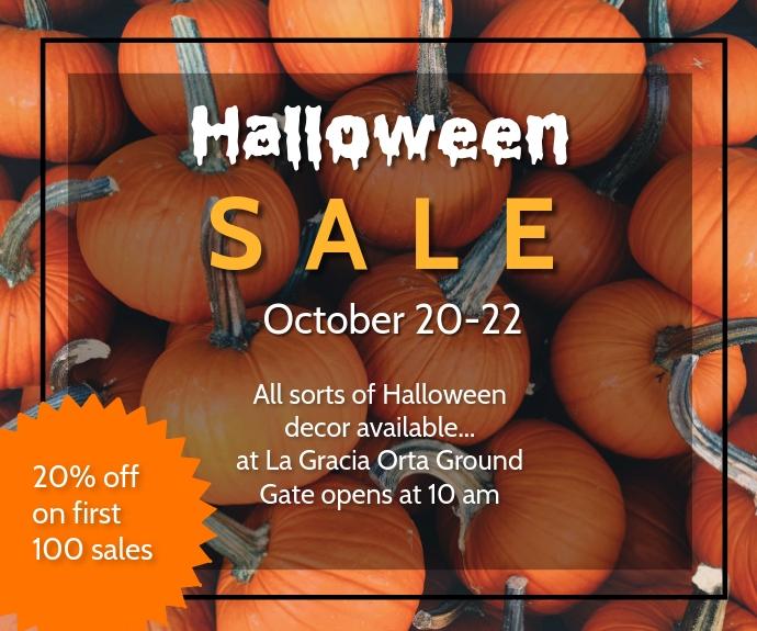 Halloween SALE 中型广告 template