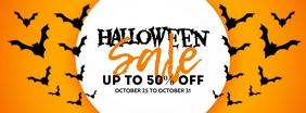 Halloween Sale Portada de Facebook template