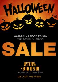Halloween sale A4 template