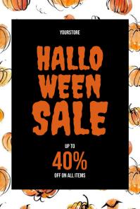Halloween Sale Plakkaat template