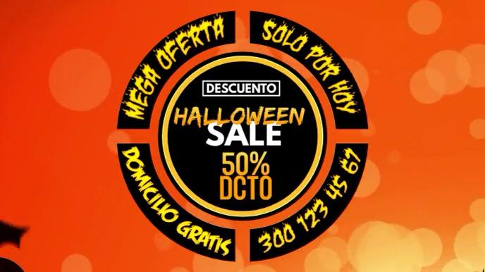 Halloween sale Digitalt display (16:9) template