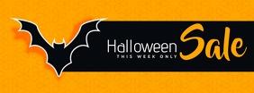 Halloween Sale รูปภาพหน้าปก Facebook template