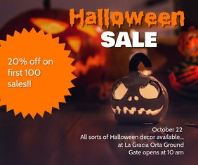 Halloween SALE Rettangolo medio template