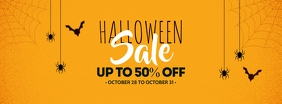 Halloween Sale Facebook-omslagfoto template