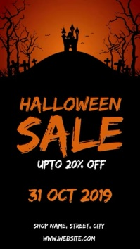 Halloween sale Instagram 故事 template