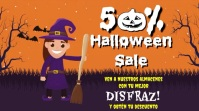 Halloween sale Ekran reklamowy (16:9) template