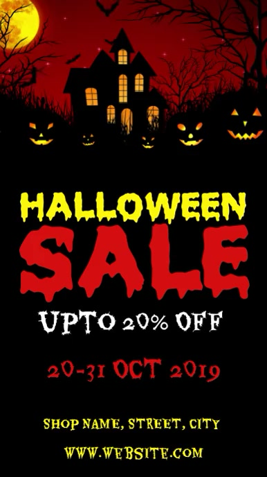 Halloween sale Instagram Story template