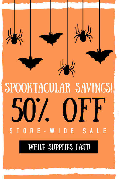 Halloween Sale Póster template
