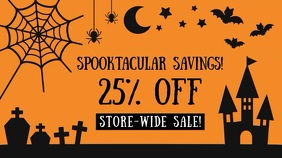 Halloween Sale Display digitale (16:9) template