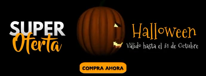 Halloween sale Facebook-Cover template
