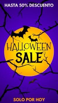 Halloween sale История на Instagram template