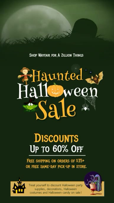 Halloween Sale Digital Display Video