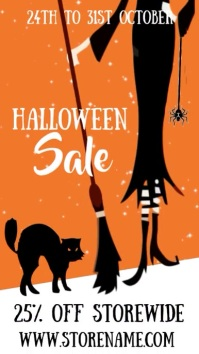 Halloween Sale Event Video Template Digital Display (9:16)