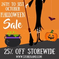 Halloween Sale Event Video Template Square (1:1)