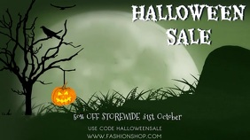 Halloween Sale Event Video Template Digital Display (16:9)