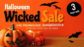 Halloween Sale Facebook Cover Video